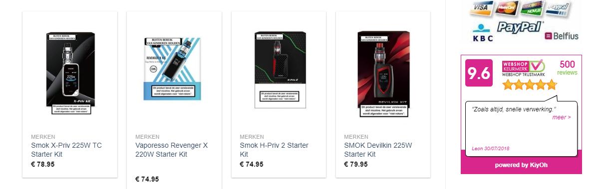 E-sigaretten haal je bij dampstarter.nl